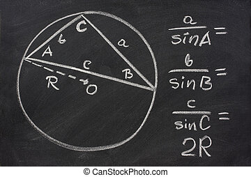 trigonometry law explained on blackboard - trigonometry...