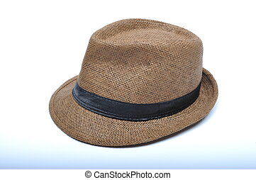Trilby on white background
