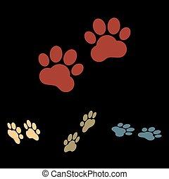 trilhas, animal, sinal