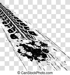 trilhas, pneu