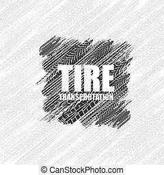 trilhas, quadrado, pneu, fundo
