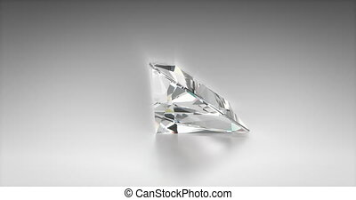 Trilliant Cut Diamond - Trilliant cut diamond on gray...