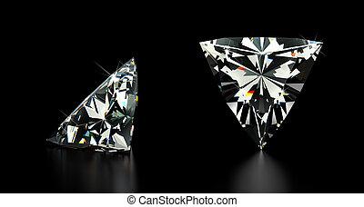 trillion, diamante, taglio