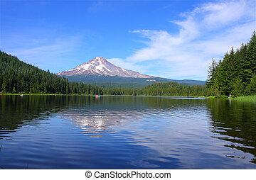 trillium, 山。, 湖, 敞篷