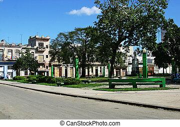 trillo, parque, ハバナ, キューバ