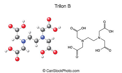Trilon B - EDTA - Structural chemical formula of trilon B -...