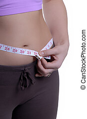 Trim Waist - Young Woman With A Slim Waist Line And...