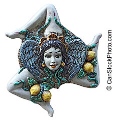 Trinacria - A ceramic trinacria, traditional souvenirs of...