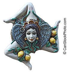 Trinacria - A ceramic trinacria, traditional souvenirs of...