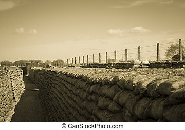 trinchera, muerte, campos, 1, flandes, bélgica, mundo,...