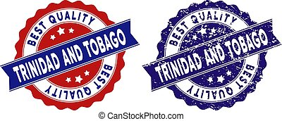 Trinidad And Tobago Best Quality Stamp with Scratched Style...