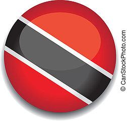 trinidad and tobago flag in a button