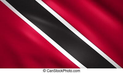 Trinidad and Tobago flag moves in the wind