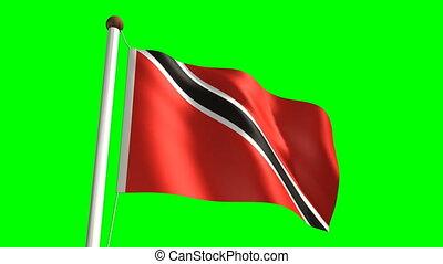 Trinidad and Tobago flag (seamless & green screen)