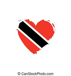 trinidad and tobago flag, vector illustration on a white...