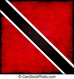 Trinidad and Tobago grunge flag