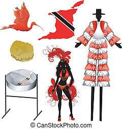 Trinidad and Tobago Icons - Vector Illustration of 6...