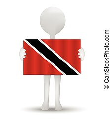 Trinidad and Tobago - small 3d man holding a flag of...