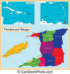 Trinidad and Tobago map - Map of the the Republic of...