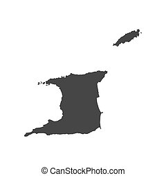 Trinidad and Tobago map on the white background. Vector...