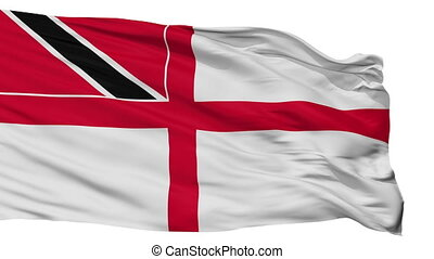 Trinidad And Tobago Naval Ensign Flag Isolated Seamless Loop...