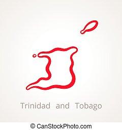 Trinidad and Tobago - Outline Map - Outline map of Trinidad...