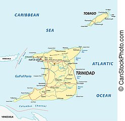 trinidad and tobago road map - trinidad and tobago road...