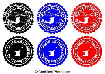 Trinidad and Tobago - rubber stamp - vector, Trinidad and...