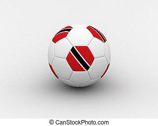 Trinidad and Tobago soccer ball - Photorealistic 3D soccer...