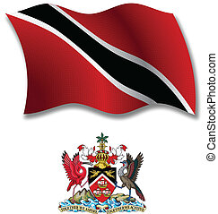 trinidad and tobago textured wavy flag vector - trinidad and...