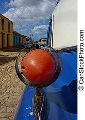 trinidad, autó, részletez, klasszikus, kuba