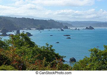Trinidad bay, California, USA - Trinidad bay in summer,...