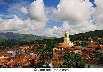 Trinidad cityscape, cuba - A view of trinidad architecture...