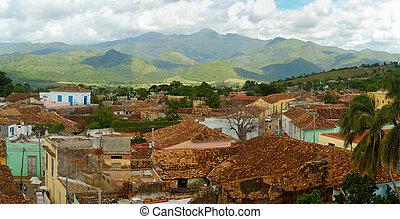 Trinidad cityscape panorama, cuba - Panoramic view of...