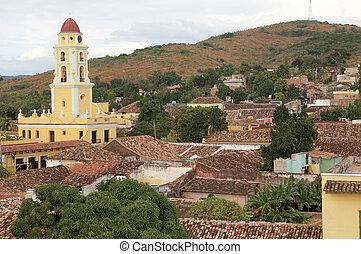 Trinidad Cuba - Trinidad town view with the San Francisco...