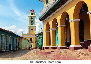 Trinidad, Cuba - Iconic and beautiful Tower in Trinidad,...