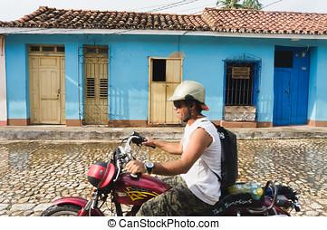 Trinidad, Cuba. View of Trinidad street, one of UNESCOs...