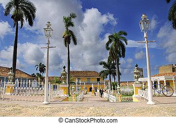 trinidad, maire place, ville, cuba