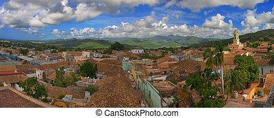 Trinidad panorama - Panoramic view of trinidad town and...