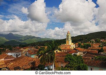 trinidad, stadsbild, kuba