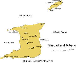 trinidad tobago, insel, hauptstadt