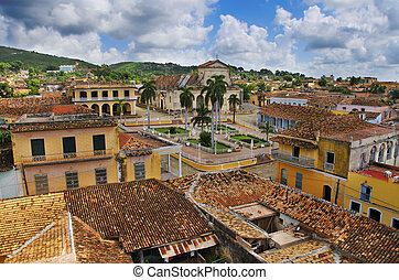 Trinidad town, cuba - A view of tropical town architecture ...