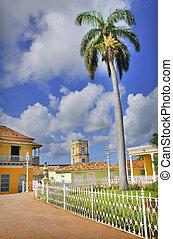 Trinidad town, cuba - A view of Plaza mayor in trinidad...