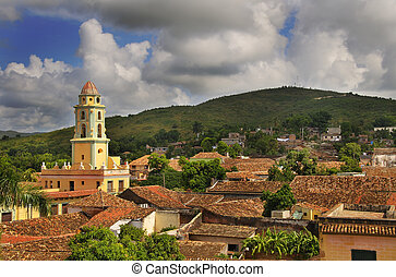 Trinidad town, cuba - A view of Trinidad town architecture...