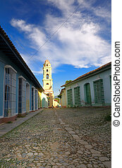 Trinidad town, cuba - View of vintage town architecture in...