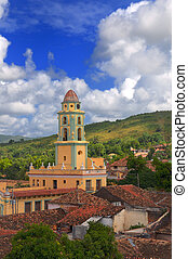 Trinidad town, cuba - A view of trinidad architecture and...