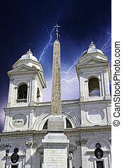 Trinita' dei Monti in Rome, Italy