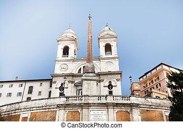 Trinita dei Monti Rome Italy - the church Trinita dei Monti...
