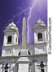 Trinita' dei Monti, Rome, Italy