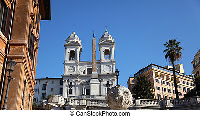 Trinita dei Monti Rome - the church of the Santissima...